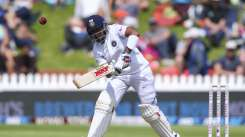 Prithvi Shaw in action against New Zealand in the first