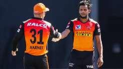 T Natarajan and David Waner in IPL 2020