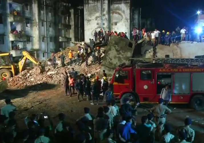 Ahmedabad building collapse:Several feared trapped; 5 NDRF