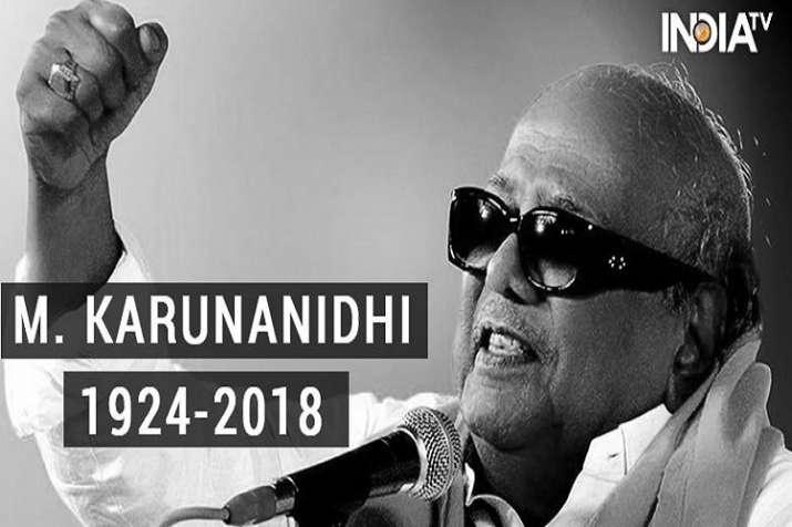 Karunanidhi served as Tamil Nadu CM for five terms