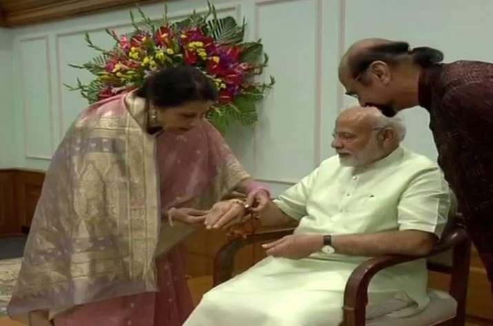 Pak-origin woman ties rakhi to PM Modi, says he hasn't
