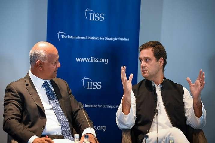 Congress President Rahul Gandhi in a panel at International