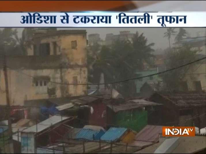 Cyclone Titli hits Odisha coast