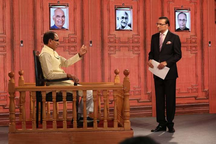 Madhya Pradesh CM Shivraj Singh Chouhan with India TV