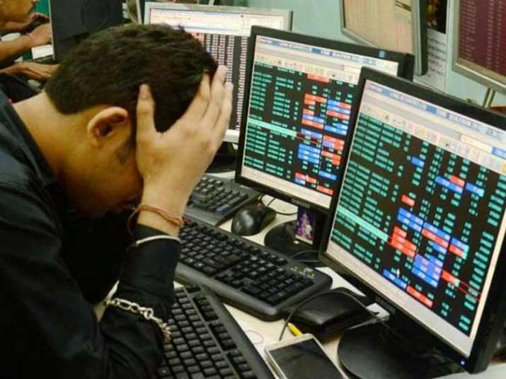 The 30-share BSE Sensex dropped by 301.49 points, or 0.89