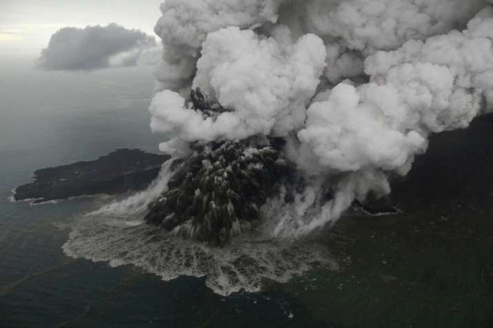 Deadly volcano Anak Krakatau loses three quarters of size since eruption
