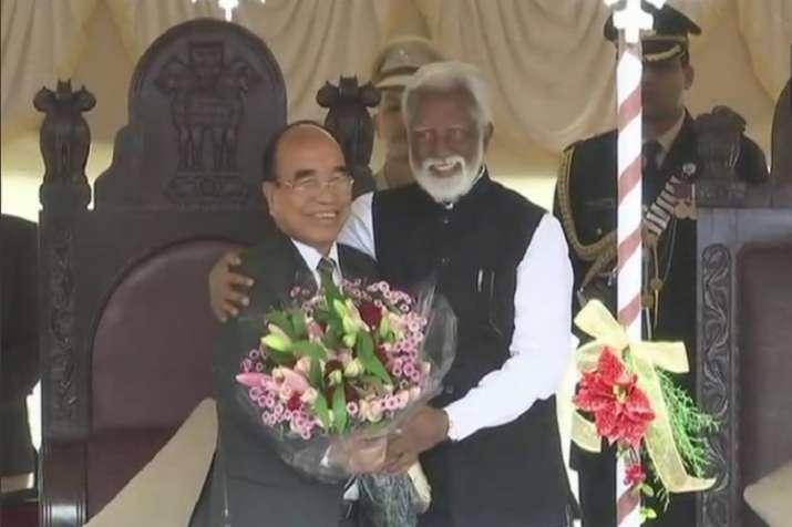Governor Kummanam Rajasekharan administered the oath of