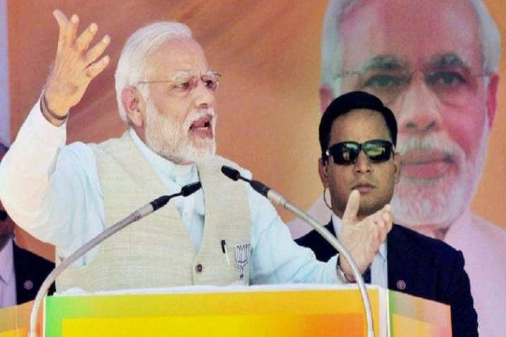"Lashing out at the Congress, PM Modi said; ""We brought"