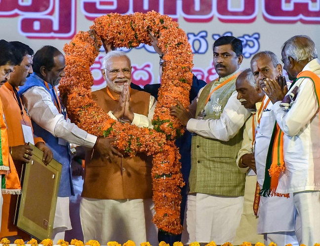 Addressing an election rally in Hyderabad, PM Modi said