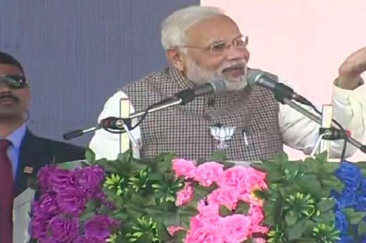 PM Modi addressing rally in Sumerpur