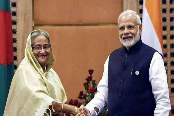 PM Modi had a telephonic conversation with his Bangladeshi