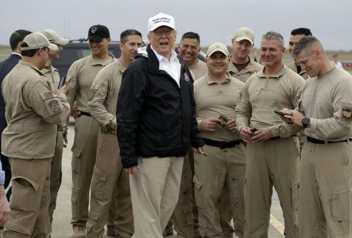 During his visit to the southern border state Texas on