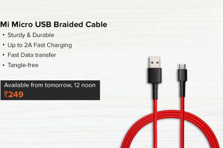 Xiaomi Mi Micro USB Braided Cable with 2A fast charging launched in India