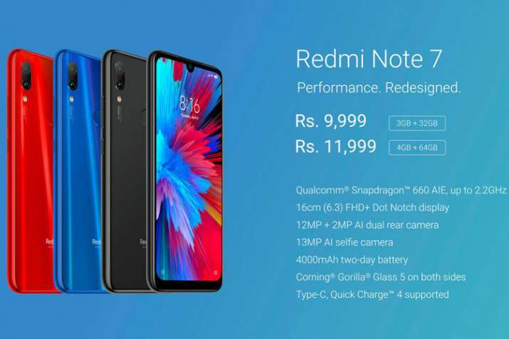 Xiaomi Redmi Note 7 launched in India: Price, specifications and more