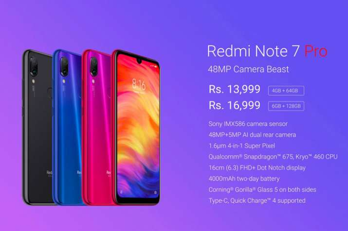 Xiaomi Redmi Note 7 Pro launched in India: Price, specifications and more