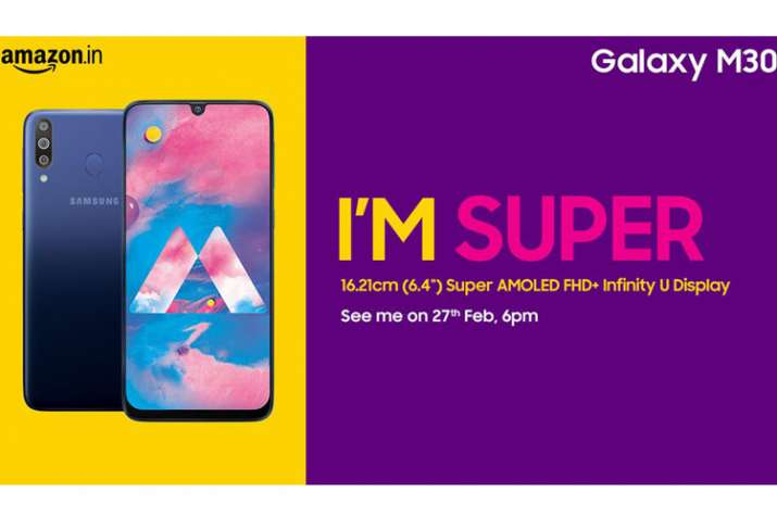 Samsung Galaxy M30 with 5000mAh battery and triple rear cameras launching in India on February 27