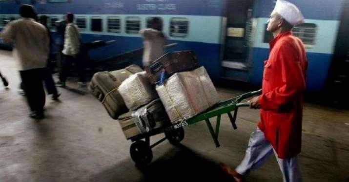 Indian railways, coolies,