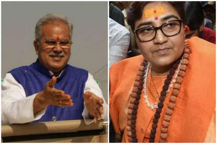 Chhattisgarh Chief Minister Bhupesh Baghel andPragya