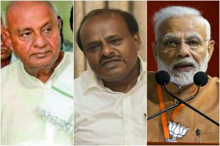 Narendra Modi, HD Deve Gowda, HD Kumaraswamy