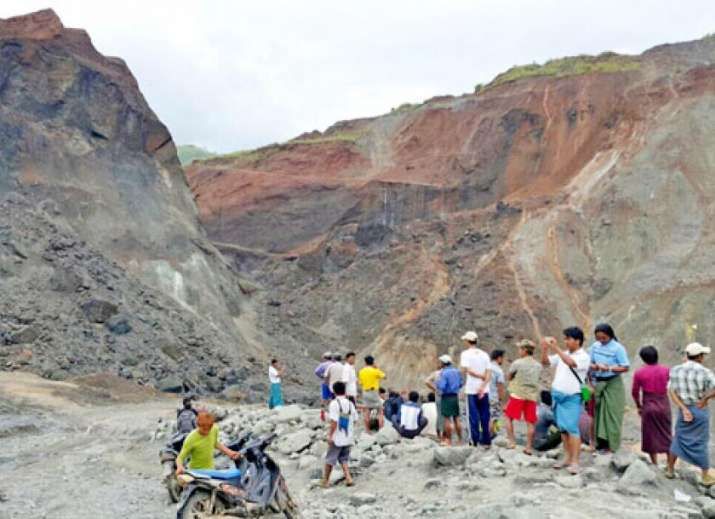 50 killed in mudslide at gemstone mine in Myanmar