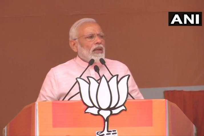 Prime Minister Narendra Modi in Amroha