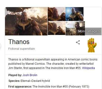 Thanos snap and half of Google search result is gone