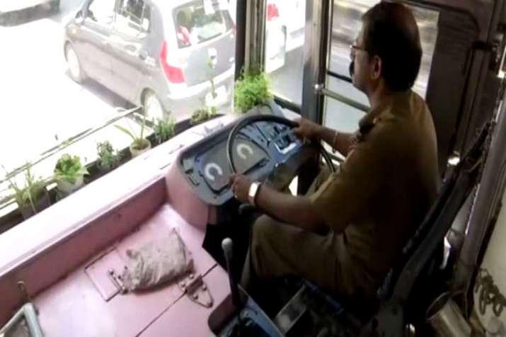 Bengaluru bus driver maintains mini garden in his bus