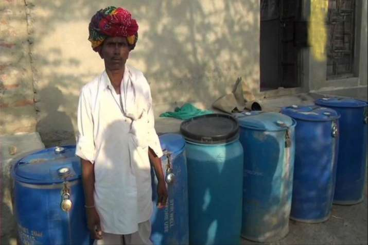 Rajasthan villagers lock their water containers to prevent