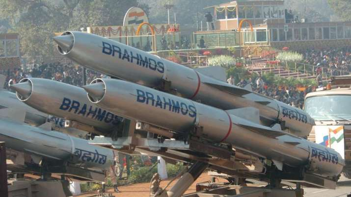 Brahmos supersonic cruise missiles.