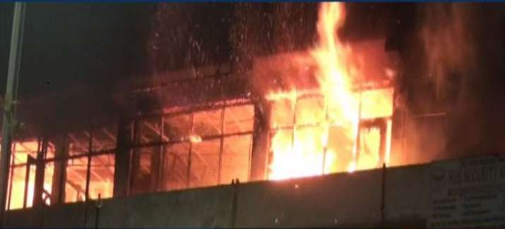 Four-storey building in Noida local market catches fire