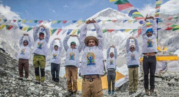 Indian Embassy in Kathmandu celebrates Yoga Day at the gateway to Mount Everest