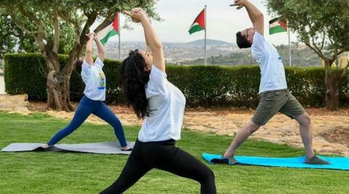 Yoga fest in Palestine draws huge response from Palestinian