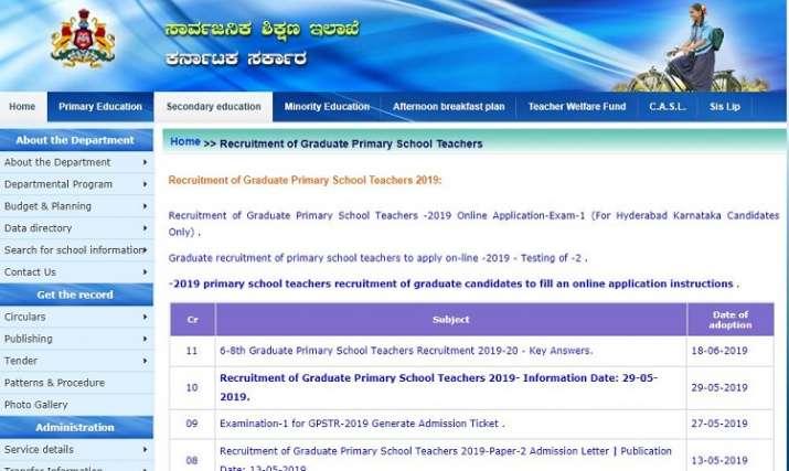 SED Karnataka Teacher Recruitment 2019