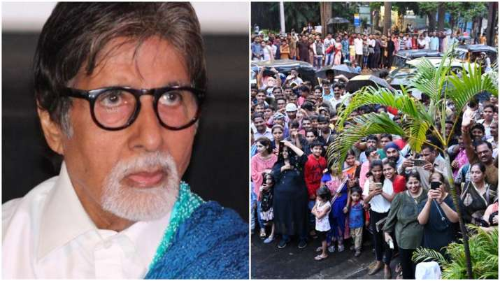 Amitabh Bachchan apologizes to fans outside his house for not greeting them