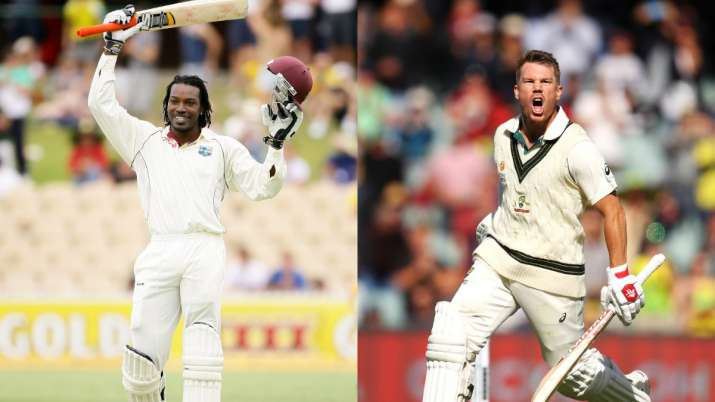 Game recognises Game: Chris Gayle welcomes David Warner to the 'Triple club'