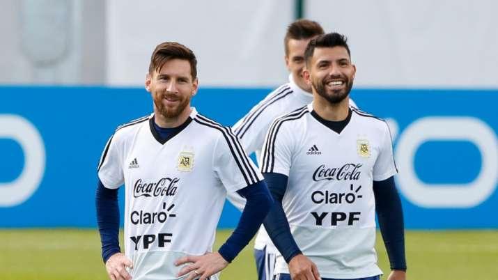 lionel messi sergio aguero argentina football team