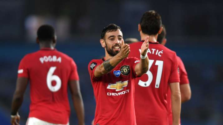 Premier League: Bruno Fernandes nets twice in Manchester United's 3-0 victory at Brighton