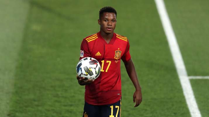 Nations League: Ansu Fati becomes Spain's youngest-ever scorer in 4-0 win over Ukraine