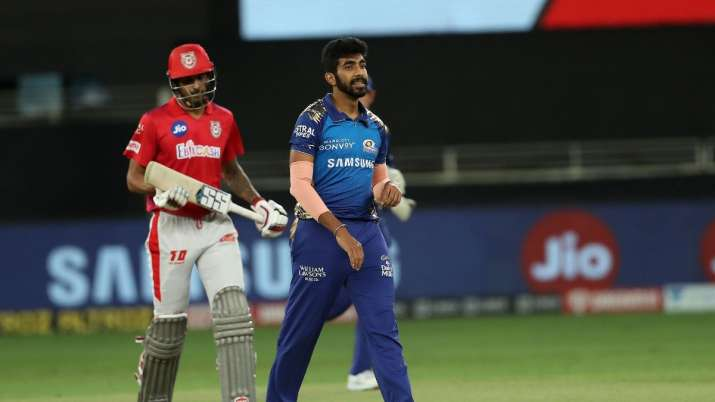 jasprit bumrah, kieron pollard, ipl 2020, indian premier league 2020, mumbai indians, kxip vs mi