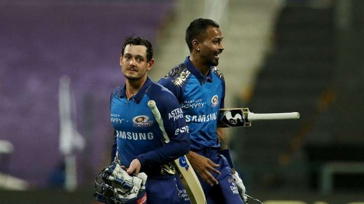 Mumbai Indians cruised past Kolkata Knight Riders with an eight-wicket win to go top of the table in