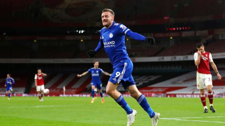 Vardy had enough time to net his 11th league goal against Arsenal — the most he has scored against a