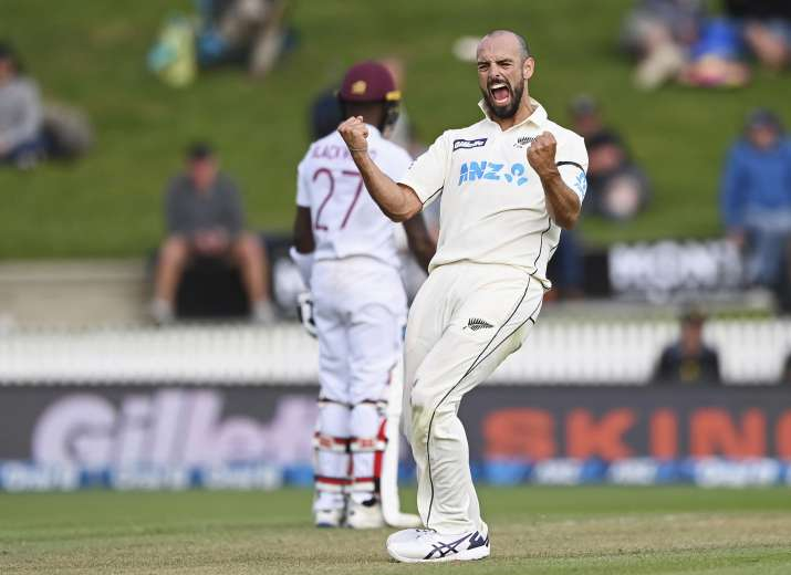 West Indies, who were six down for 196 in the second