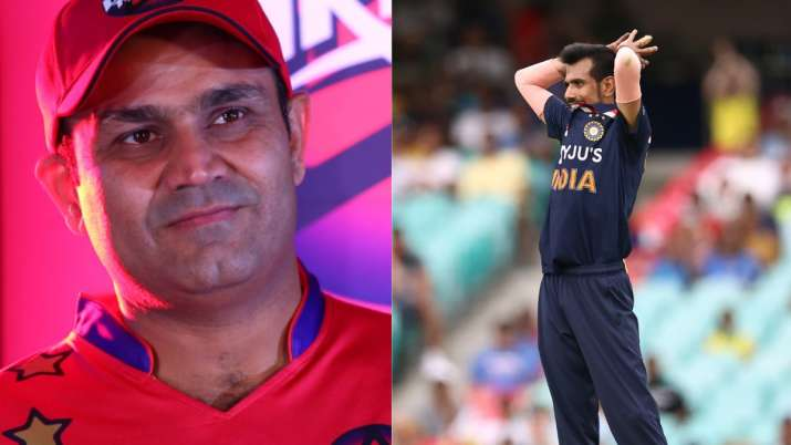 Virender Sehwag and Yuzvendra Chahal