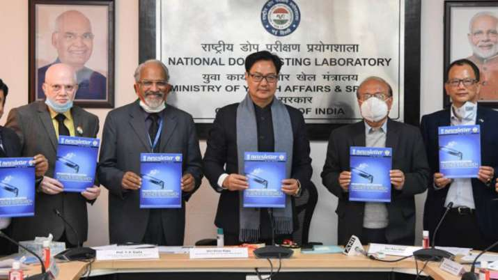 Union Sports Minister Kiren Rijiju on Thursday launched the material synthesized by collaborative ef