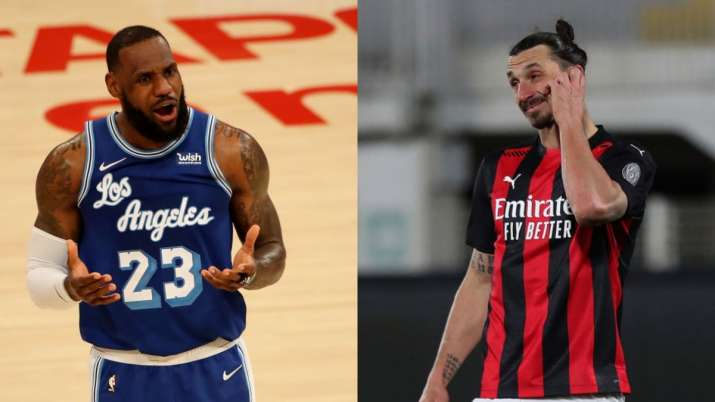 zlatan ibrahimovic, lebron james, lebron james football, ac milan