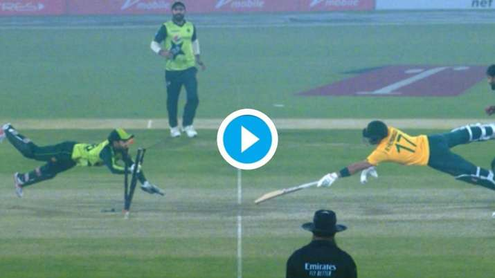 'Superman' Mohammad Rizwan makes incredible dive to run Reeza Hendricks out in 1st T20I