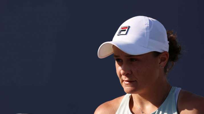 Top-ranked Ashleigh Barty overcomes match point for win at Miami Open