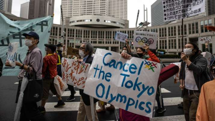 'Go Home!': Anti-Olympic protesters demonstrate against the IOC in Tokyo