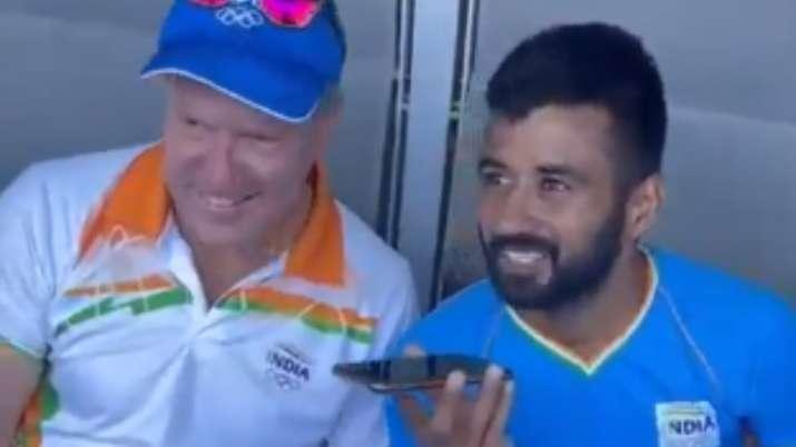 Watch: PM Modi talks to men's hockey captain Manpreet, coach Reid after historic Olympic bronze